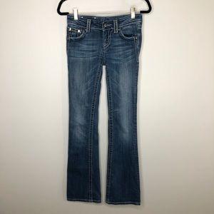 Miss Me Les Le Fleur Bling Bootcut Jeans
